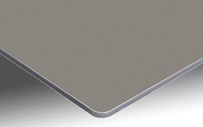 Votre panneau de bain sur support aluminium taupe satin