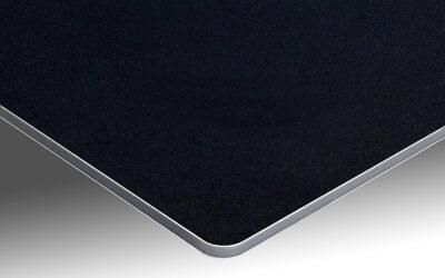 Votre panneau de bain sur support aluminium noir mat ardoise