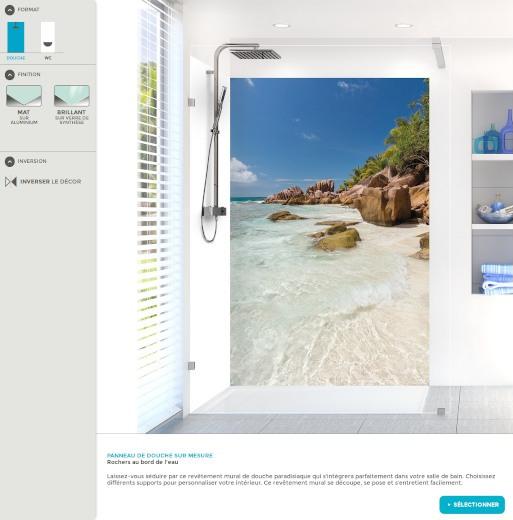 Configurateur de panneaux de salle de bain