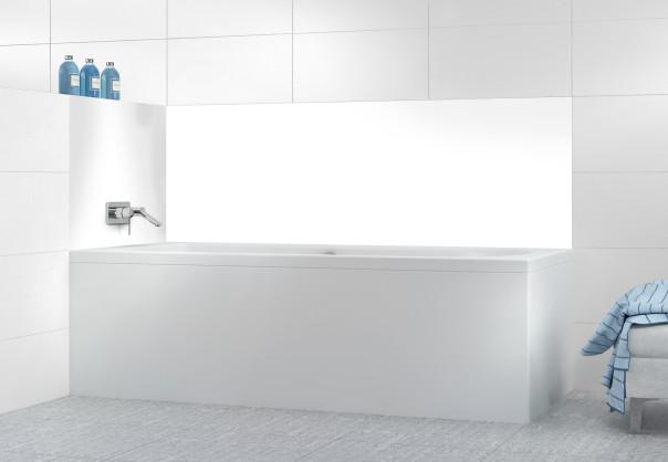 Panneau de bain Blanc Glossy